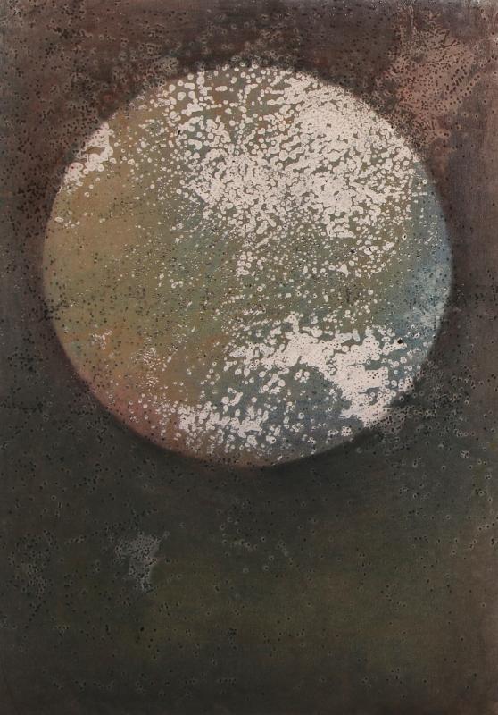 Une lune, techniques mixtes sur papier, 100x70 cm, 2016 1920 300 dpi