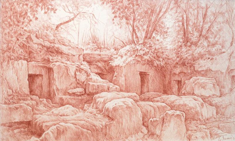 Tombe Etrusque 26 x 43 Sanguine 1920 72 dpi
